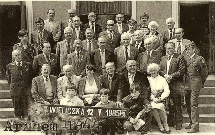 Weterani 1 SBS Spotkanie rocznicowe kombatantów 1 SBS w 1985 r. w Polsce