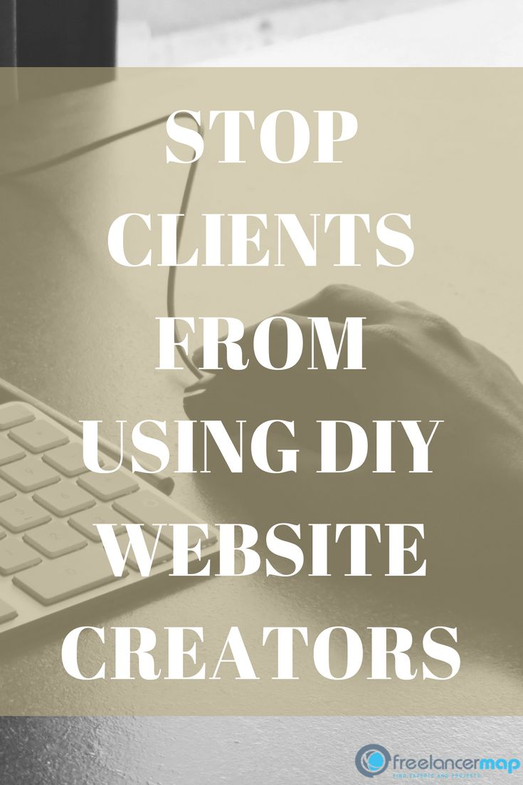 A lot of web developers have issues finding freelance work, for example, because everyone thinks that building a website is super easy and they can do it alone. Obviously these DIY platforms have a lot of issues.  How to combat clients from using Wix, Weebly or other DIY website builders.