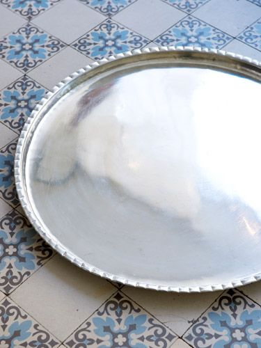dienblad geschulpte rand 70 cm - Ottomania