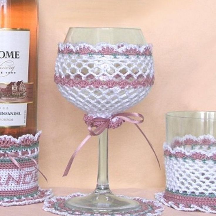 Free Pattern Crochet Wine Glass Holder : 78 Best images about Crochet - Wine glass cosy patterns on ...