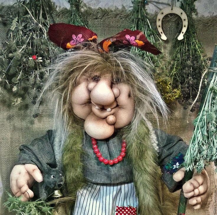 Купить баба-яга - серый, баба яга, интерьерная кукла, талисман амулет оберег