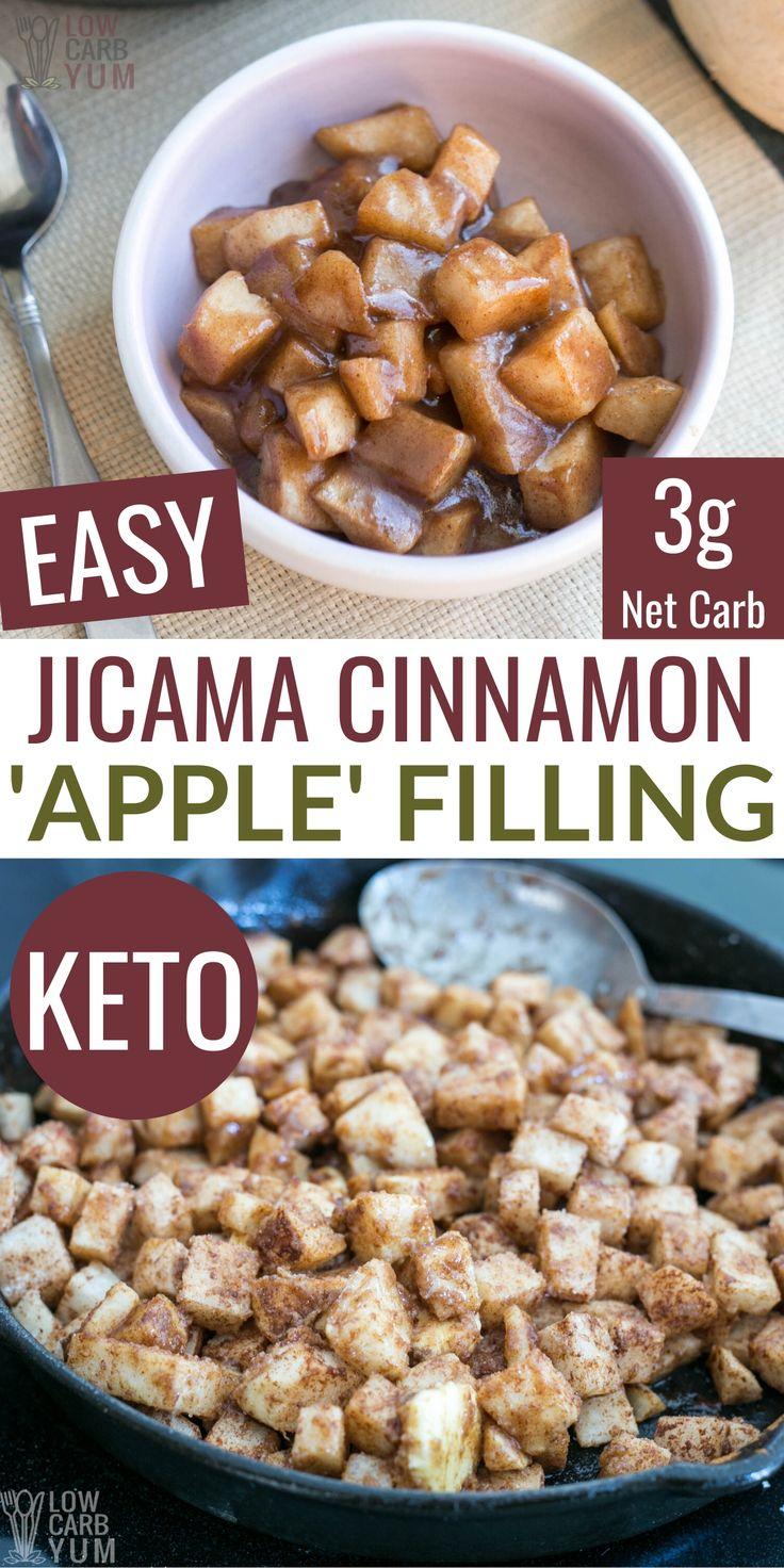 Keto cinnamon apples in 2020 low carb recipes dessert