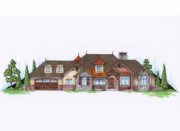 Craftsman House Plan With 3288 Square Feet And 3 Bedrooms From Dream Home  Source | House