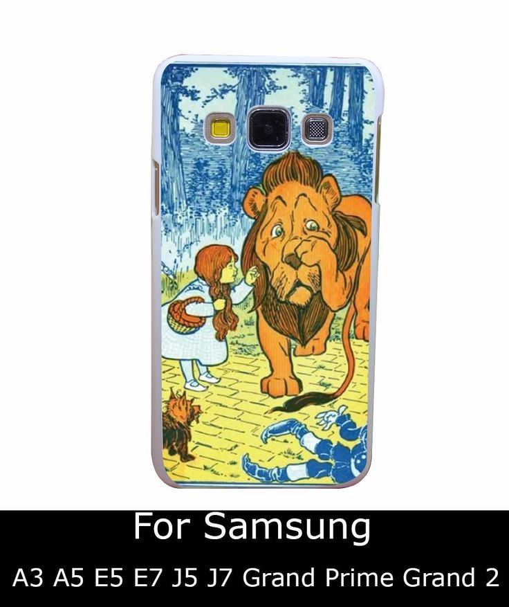 3003Qua волшебник из страны оз трусливый лев дороти стиль белый жесткий задняя крышка для Samsung Galaxy A3 A5 A7 A8 E5 7 J5 J7 гранд 2 и премьер