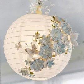 Decorated paper lanterns