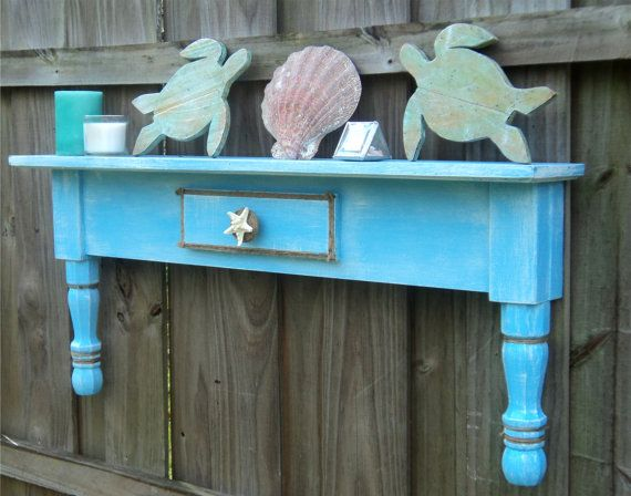 Beachy Cottage Style Display Shelf Coastal by TheSavvyShopper1, $65.00