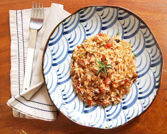 arroz com sardinha e tomate