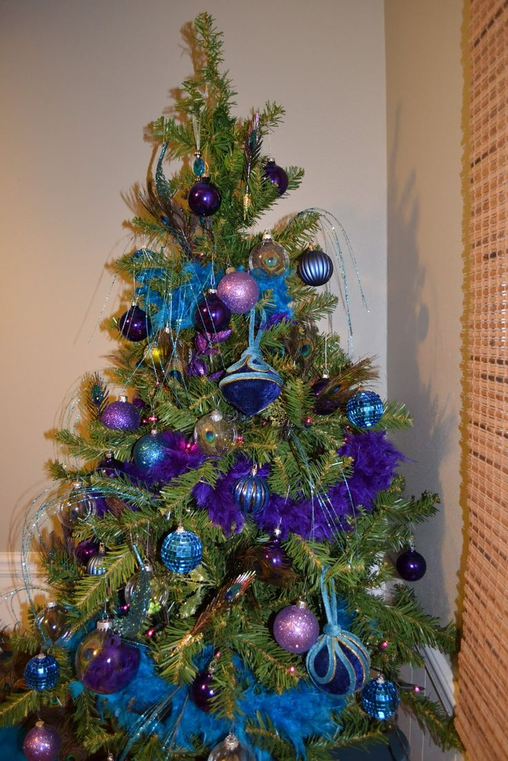Blue and Peacock Christmas tree