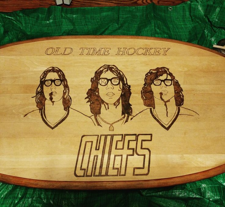 #woodburning #NHL #hockey #hansonbrothers #coffeetable
