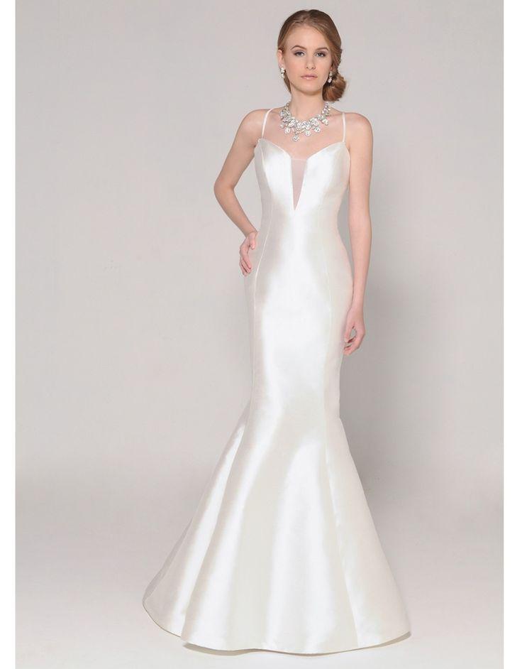 ==> [Free Shipping] Buy Best 2016 elegant satin mermaid wedding dress long criss cross white backless berta bridal dress vestidos de noiva sereia UD_355 Online with LOWEST Price | 32588822304