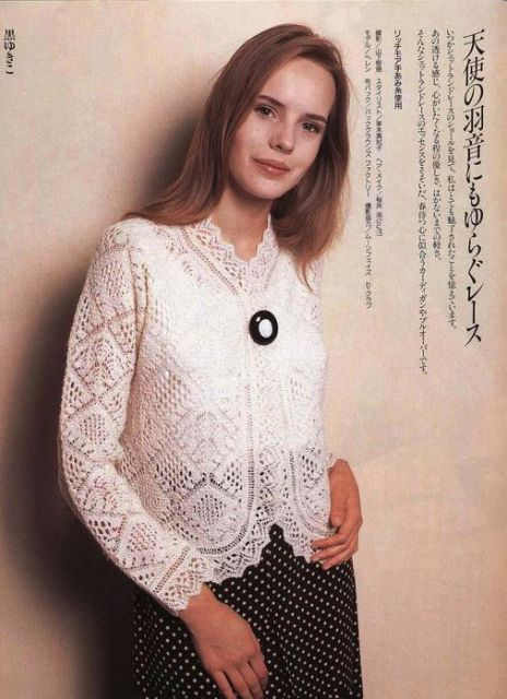 A Shetland lace jacket from a Japanese magazine, charts and other models available ~ (Bigger charts here: liveinternet.ru/users/4933277/post362400128/]) ~ Модель № 6 - Шетландские узоры - Галерея - Knitting Forum.Ru