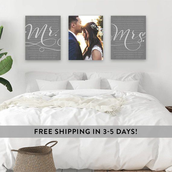 Wedding Vows Canvas Wall Art Framed Wedding Vows Optional Etsy In 2020 Bedroom Decor For Couples Master Bedroom Wall Decor Bedroom Decor For Small Rooms