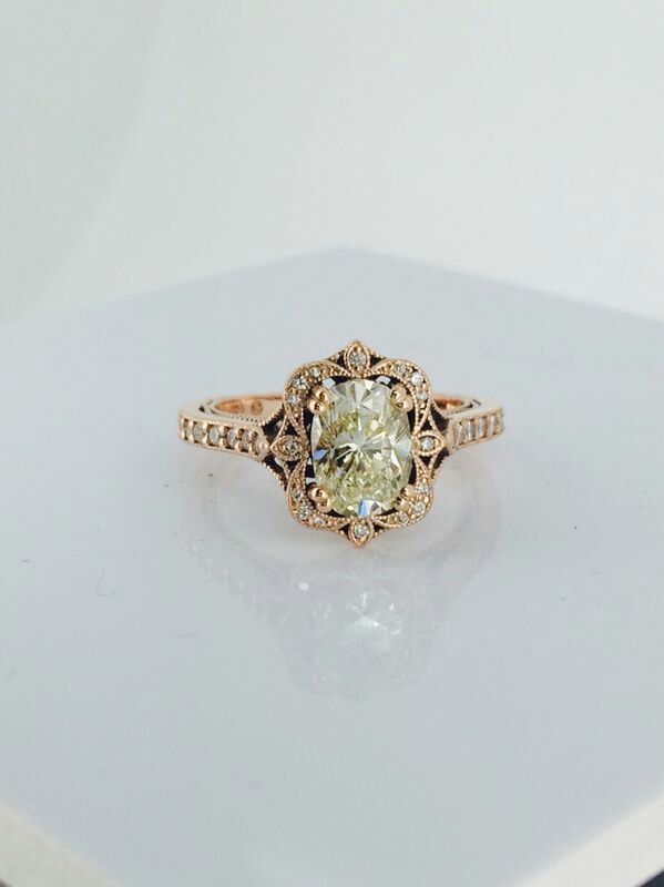 Marion Rehwinkel Jewellery  1.9ct Oval LFY Diamond set in Rose Gold South African Jeweller www.marionrehwinkeljewellery.com