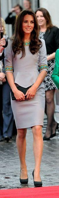 Kate Middleton: Dress - Matthew Williamson Pre Fall 2012 Earrings - Kiki Shoes…