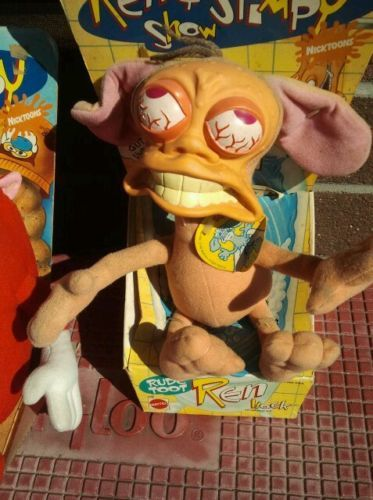 Ren-Ren-Hoek-10-Plush-Dolls-1992-Nickelodeon-Mattel