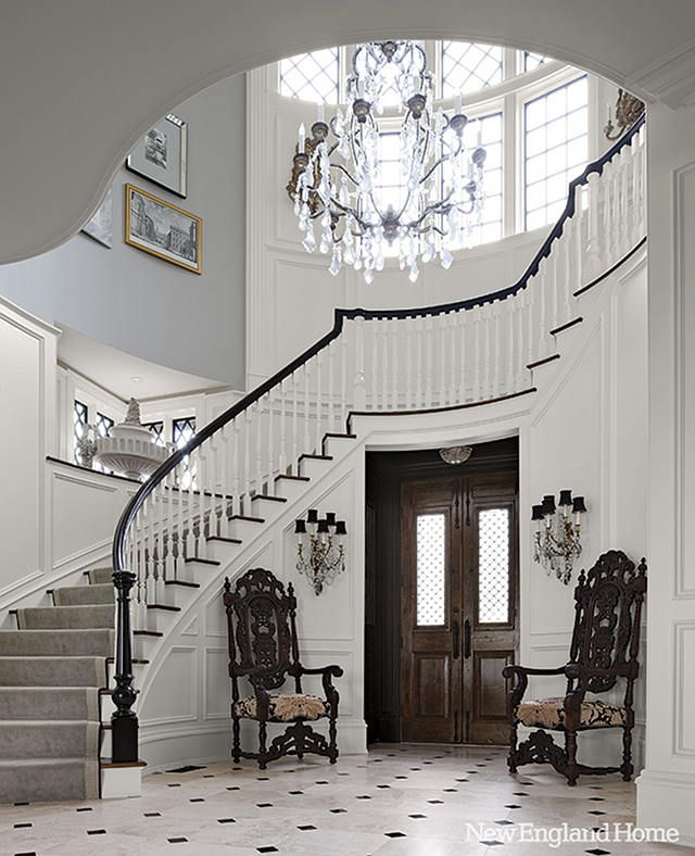 25 best ideas about grand entrance on pinterest black for Furniture for curved wall in foyer