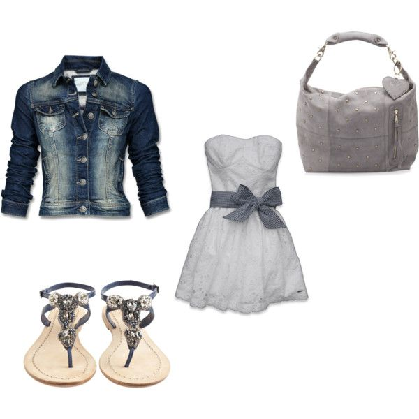 grey, created by tiffany-rosas on Polyvore: The Dress