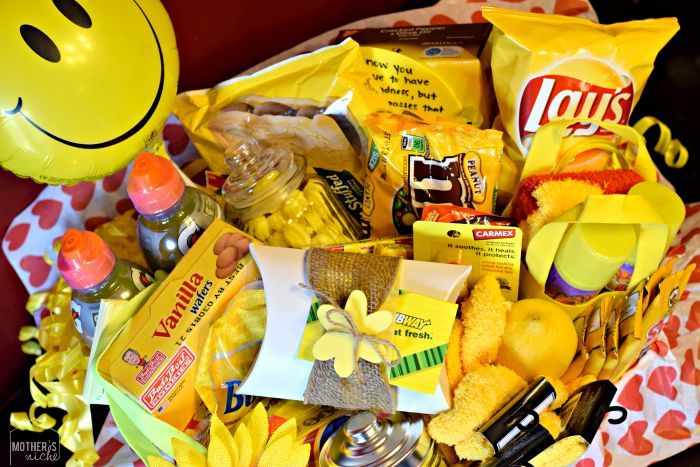 Basket of Sunshine. Great way to sympathize with someone when you don't have the words!