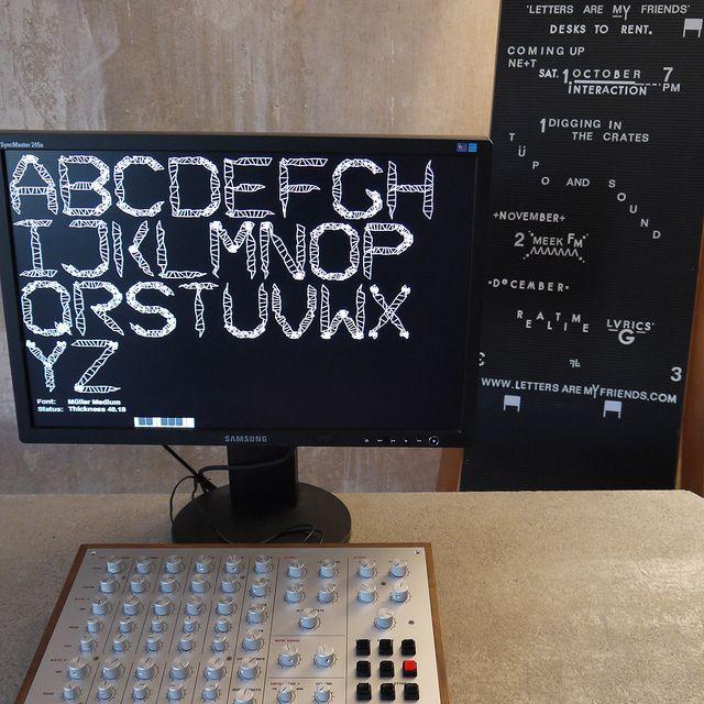 Meek FM Typographic Sinthesizer #typography #geek