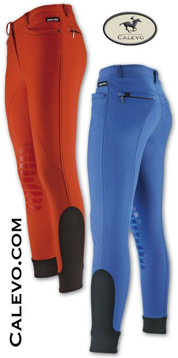 Euro-star - ladies breeches DYNAMIC GRIP, elaborate pocket detail, and contrast stitching.
