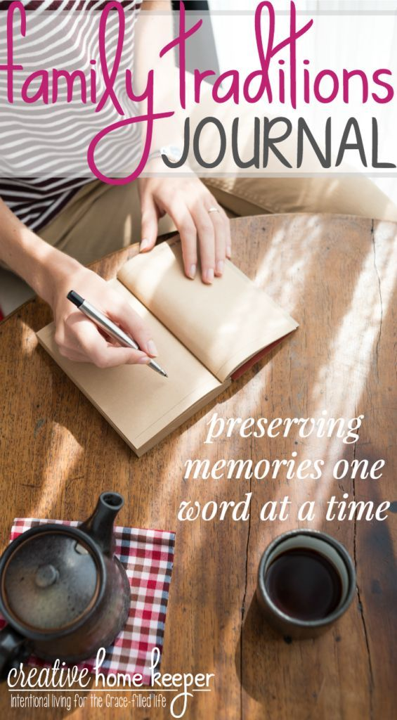Want to slow down time and preserve memories in a unique keepsake your family will cherish for years to come? A family traditions journal is like a photo album filled with precious memories but instead of being filled with pictures and photographs, it is filled with words and it's so simple to start and maintain!