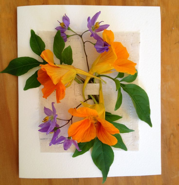 Fresh flower Easter card