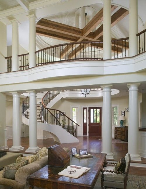 walking bridge that is visible from the foyer: Idea, Staircases, Dream House, Beautiful, Homes, Photo, Design, Dreamhouse