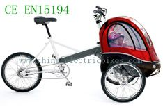 http://www.china-electricbikes.com/electric-folding-bikes/electric-folding-bicycles.html The Foldable Bikes Electric has two sections,an electric trike and a baby carriage-Electric Folding Bikes