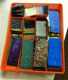 Project storage.....this lady has great ideas for breaking up your stash so you can use it! Many free patterns using her  technique!!!!!  I am getting started!: