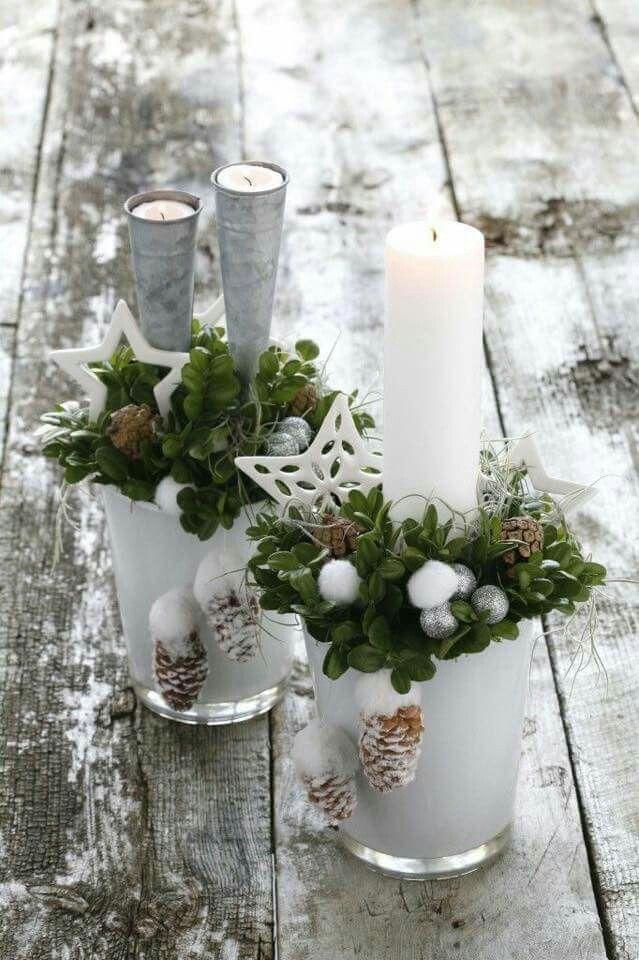Christmas candle displays