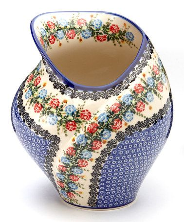Take a look at this Flower Garden Tulip Vase by Lidia's Polish Pottery on #zulily today!