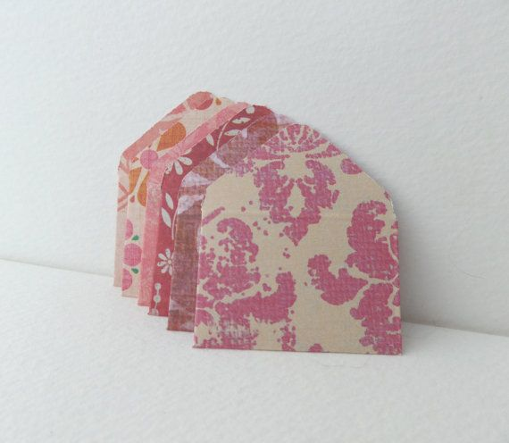 Teeny Weeny Notelets 6 mini patterned envelopes by NoDittoDesign