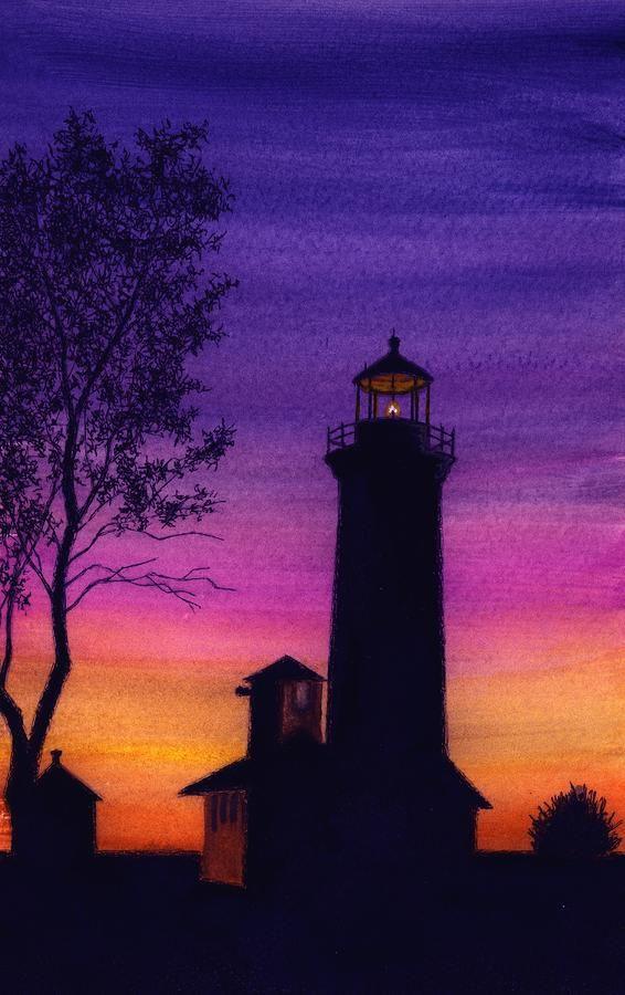 Tibbetts Point Lighthouse Painting  - Tibbetts Point Lighthouse Fine Art Print