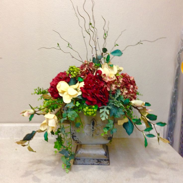 Centerpiece silk and craft creations pinterest