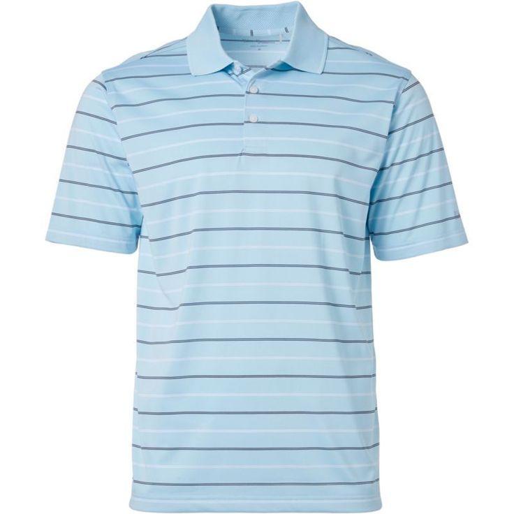 Walter Hagen Men's Essentials Railroad Stripe Golf Polo, Size: Medium, Blue