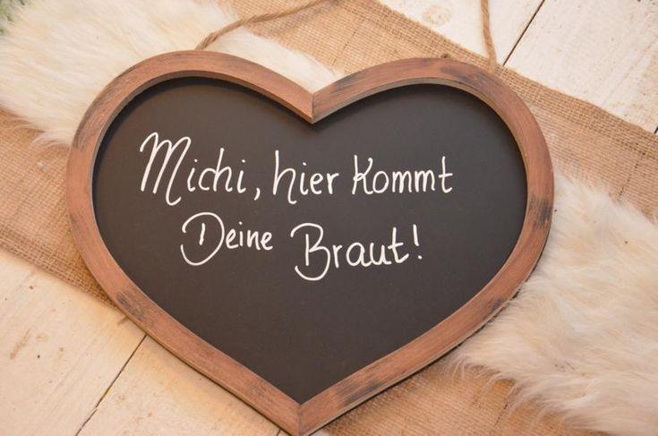 Hochzeitsdeko - Tafel Hochzeit Braut Schild - ein Designerstück von majalino bei…