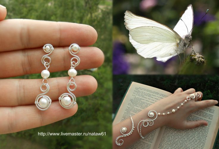 "Exquisite set ""Tenderness"". Made by the talented master Natalia http://www.livemaster.ru/nataw61 from our natural white round pearls https://www.etsy.com/shop/PurrrMurrr?ref=hdr_shop_menu&search_query=white+round+pearls  http://www.livemaster.ru/search.php?vr=0&searchtype=1&search=purmur+%D0%BE%D0%BA%D1%80%D1%83%D0%B3%D0%BB%D1%8B%D0%B9+%D0%B1%D0%B5%D0%BB%D1%8B%D0%B9+%D1%80%D0%B5%D1%87%D0%BD%D0%BE%D0%B9+%D0%B6%D0%B5%D0%BC%D1%87%D1%83%D0%B3"