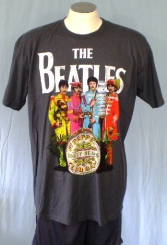The Beatles Gray XL T-Shirt Sgt Pepper's Lonely Hearts Club Band Apple Corps NWT #AppleCorpsLTD #GraphicTee