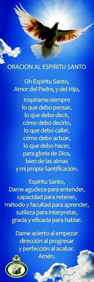 Oración al Espíritu Santo                                                                                                                                                     Más