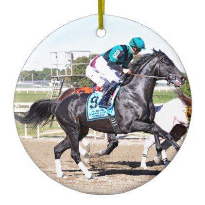 Just Call Kenny Ceramic Ornament - horse animal horses riding freedom