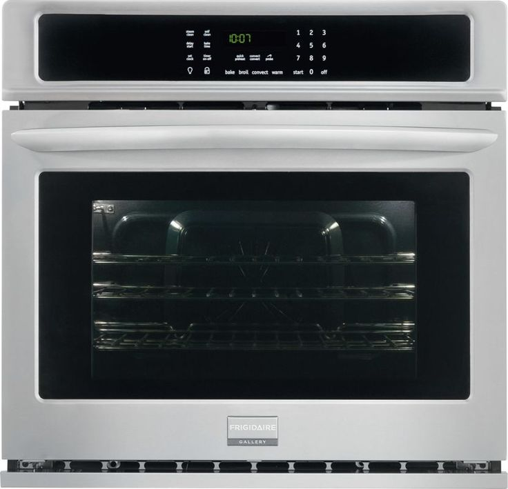 Frigidaire FGEW2765P 27 Inch 3.8 Cu. Ft. Gallery Single Electric Oven with True Stainless Steel Ovens Electric Single