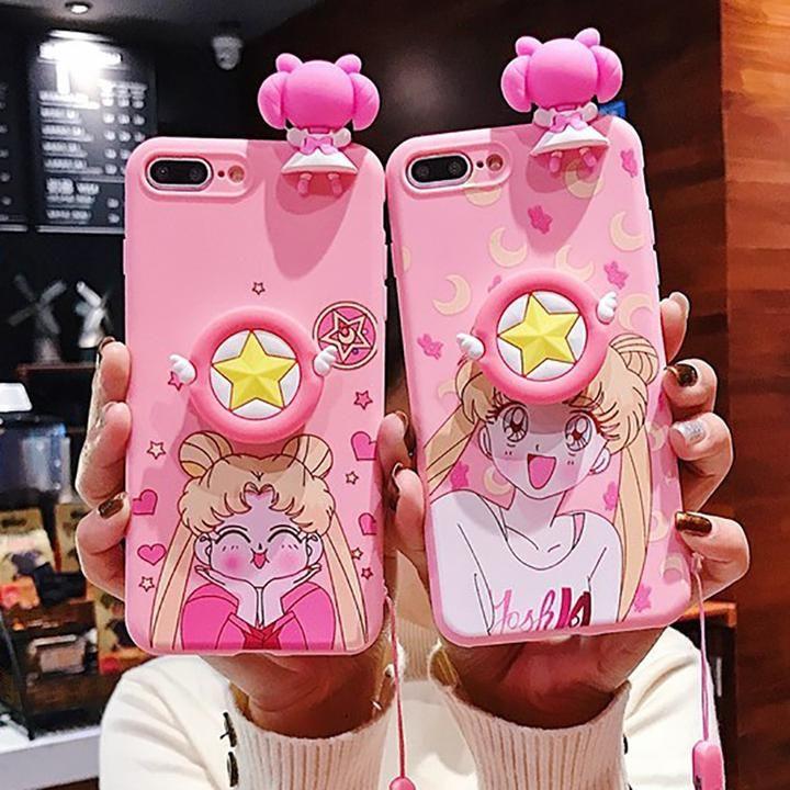 Cute sailor moon pink phone case for iphone kawaii shirt