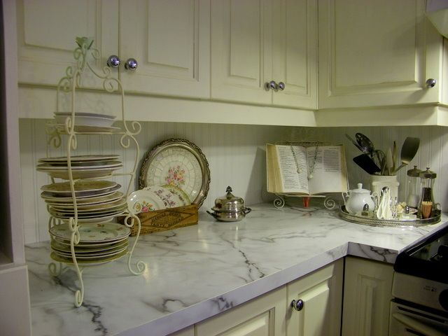 Old White Kitchen Cabs With Clear Wax