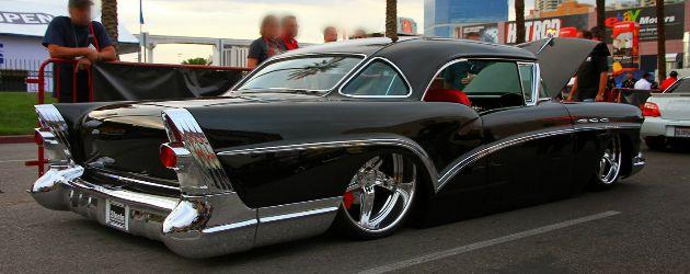 Custom 1957 Buick Special raceline wheels lowrider black ...