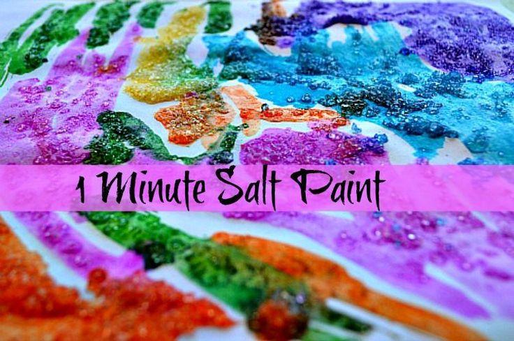 art activities with salt