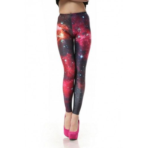 Nice Galaxy Pink Printed Gradient Leggings for only $29.99 ,cheap Fashion Leggings - Clothing & Apparel online shopping,Nice Galaxy Pink Printed Gradient Leggings