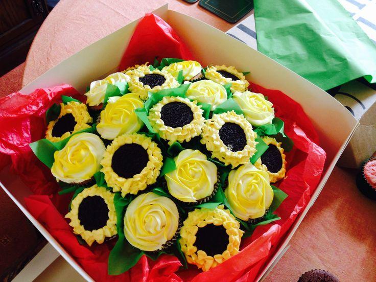 Sunflower Cupcake Bouquet