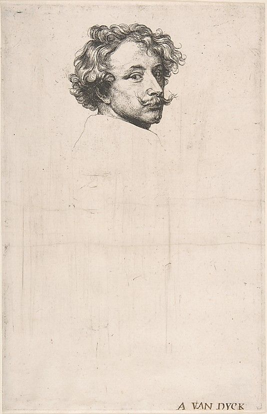 Anthony van Dyck (Flemish, 1599–1641). Self-Portrait, from The Iconography, ca. 1630. The Metropolitan Museum of Art, New York. Bequest of Mary Stillman Harkness, 1950 (50.583.4) #mustache #movember