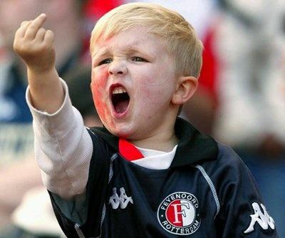 Child soccer fan.....starting early! : )