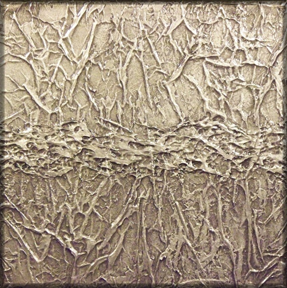 [ michael joseph ]: abstract silver texture painting